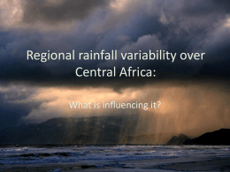 Regional rainfall variability over Central Africa: