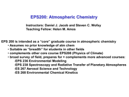 100 km Dz - Atmospheric Chemistry Modeling Group