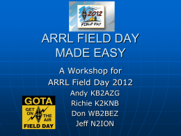 Field Day Made Easy - Long Island Mobile Amateur Radio Club