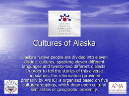 Cultures of Alaska (Powerpoint Presentation)