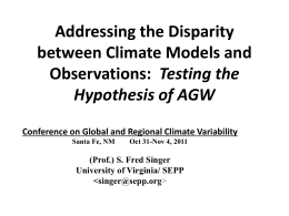 Addressing the Disparity between Climate Models and Observations