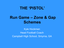 THE `PISTOL` Run Game – Zone & Gap Schemes