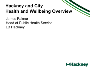 Title to go here - NHS City and Hackney CCG