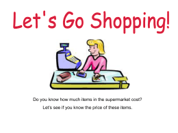 PPT, SEN: Lets Go Shopping