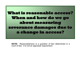 What is reasonable access and how do we go about measuring