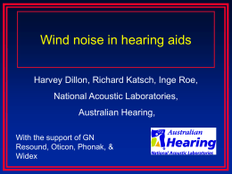 wind noise - National Acoustic Laboratories