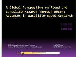 A Global Perspective on Flood and Landslide Hazards