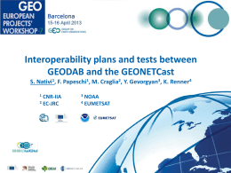 Interoperability plans and tests between GEODAB - GEPW