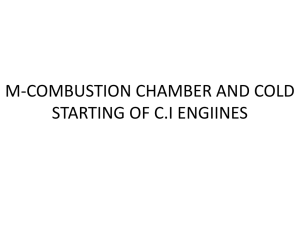 m-combustion chamber and cold starting of c