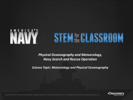 Physical Oceanography - Navy STEM for the Classroom