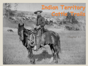 Indian Territory Cattle Trails