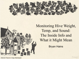 Monitoring Hive Weight, Temperature, and Sound: The