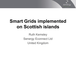 Smart Grids implemented on Scottish islands