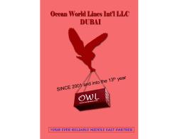 to view a presentation - Ocean World Lines Int`l LLC Dubai