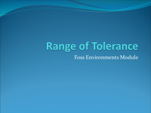 Range of Tolerance