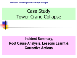 Root Cause Analysis Exercise - crane collapse