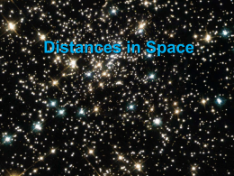 Distances in space ppt