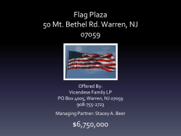 Flag Plaza Information Package