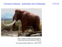 """Clumped"" isotopes: potential and challenges"