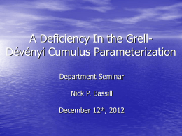 A Deficiency In the Grell-Dévényi Cumulus Parameterization
