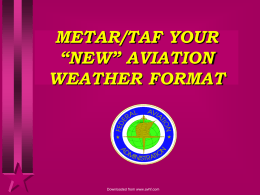 WELCOME TO METAR/TAF