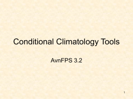 Conditional Climatology