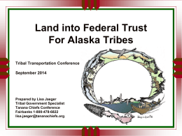 Jaeger – Land into Trust for Alaska Tribes
