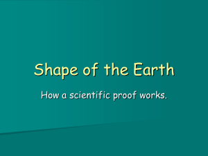 Shape of the Earth PPT