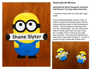Despicable Me Minions Submitted by Ramin Zangeneh