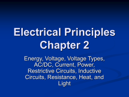 Electrical Principles Wk 1B