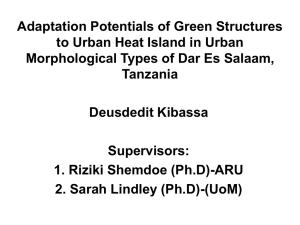 Adaptation Potentials of Green Structures to Urban Heat