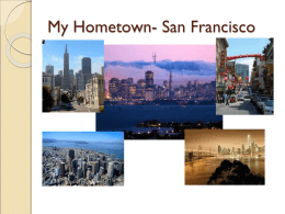 My Hometown- San Francisco
