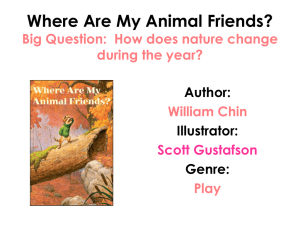 Where Are My Animal Friends? Day 1