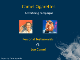 Camel Cigarettes Advertising (Powerpoint Presentation)