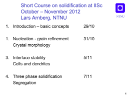 IISc solidification lecture 1