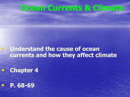2.5 Ocean Currents & Climate
