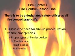 PowerPoint: Firefighter I and II Re
