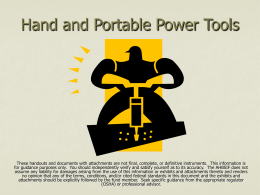 Subpart I – Power Tools