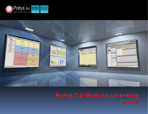 Licensing CA Modules Presentation