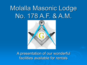 Molalla Masonic Lodge No. 178 A.F. & A.M.