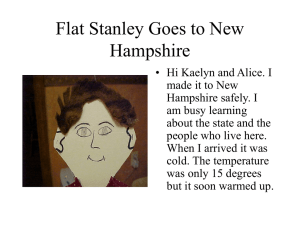 New Hampshire Visit - Flat Stanley Project