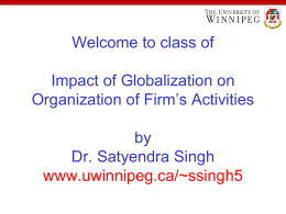 Impact of Globalization on the Organizational Activities