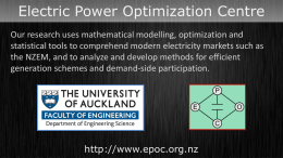 ppt - Electric Power Optimization Centre