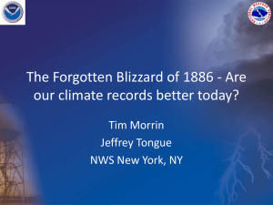 The Forgotten Blizzard of 1886