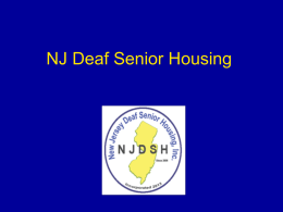 NJ Deaf Senior Housing - New Jersey Deaf Senior Housing, Inc.