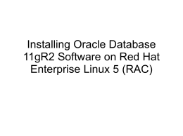 Installing the Oracle Database 11g R2