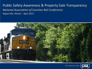 CSX NaCo Rail Conference-Apr11 - National Association of Counties