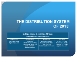 The Distribution System of 2015, October 2010, Chicago, IL.
