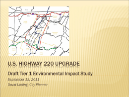 U.S. Highway Upgrade - City of Cumberland, Maryland