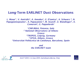 Long-term EARLINET dust observations - Northern Africa